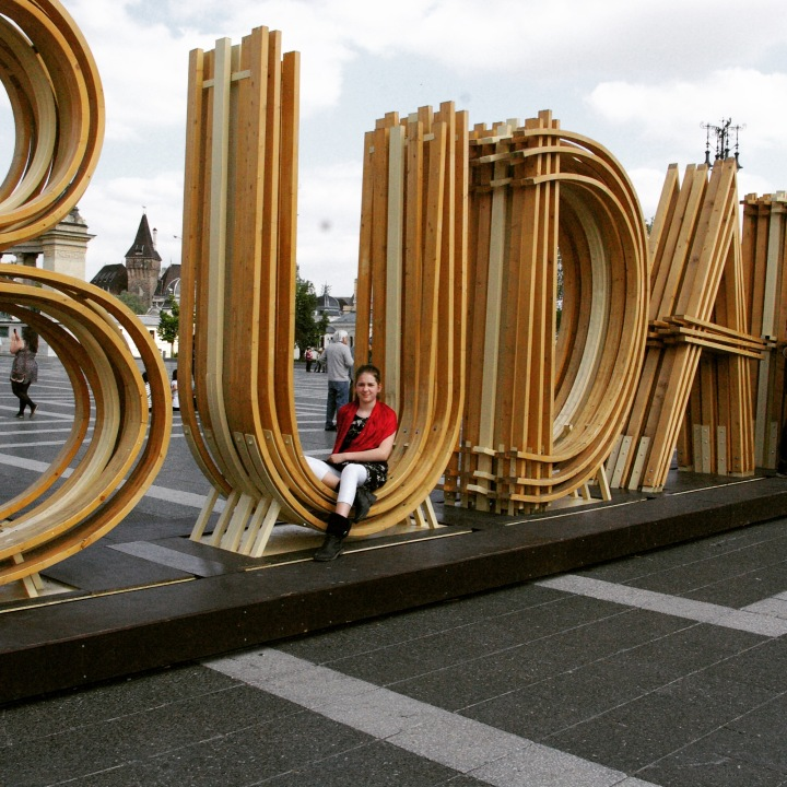 Budapest in letters as an exhibit on Heroes Square