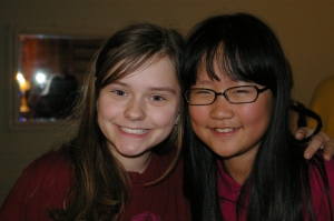 One of Lydia's favorite friends.  Sadly, Hyun Seo moved back to Korea this summer.