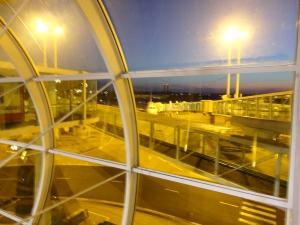 Sunrise in the Paris airport