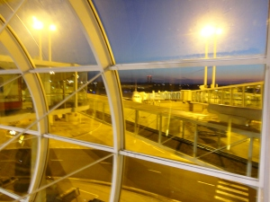 Sunrise in the Paris airport