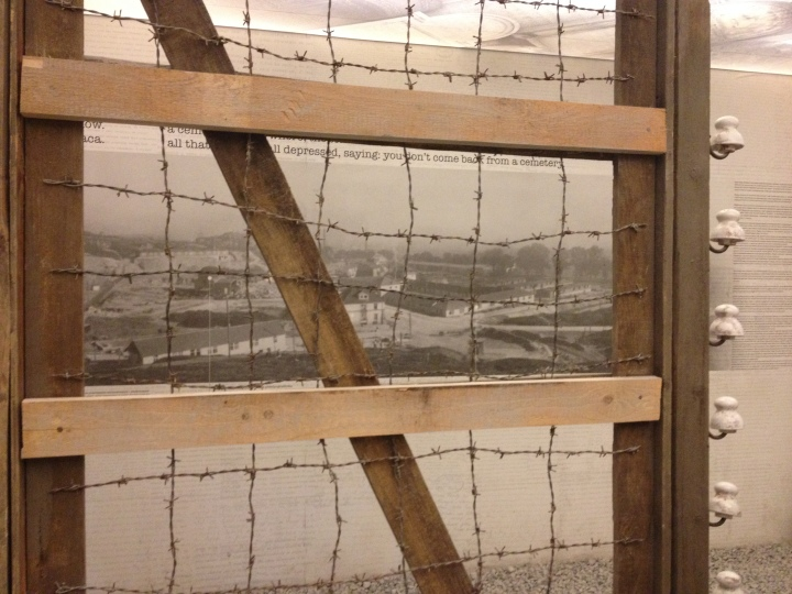 Barbed wire fence from Schindler's factory