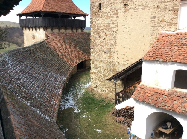 From an ancient church tower in Viscri, Romania where we have a small and active house group.