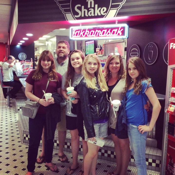 On furlough, Steak & Shake was a must!