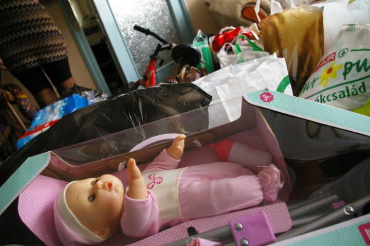 A doll waits for a special person to take her home.
