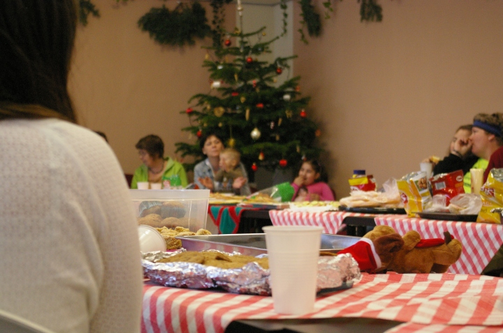 We interact with the kids weekly, the moms monthly, offer English classes, and host holiday celebrations.