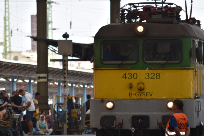a few trains pulled into Keleti on Thursday but no refugees departed