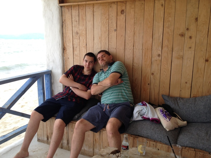 Jay and Andrei having fun at on Bulgaria's Black Sea coast. A new church plant in Varna is happening led by Jessica Morris and Dick and Cindy Phelps