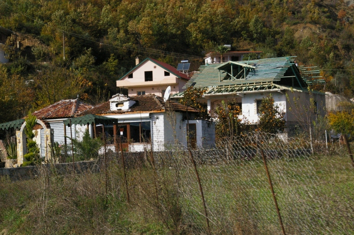Houses on the outskirts of Tirana. Multi-generations will share this space.