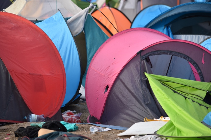 tent city. rosze, hungary border
